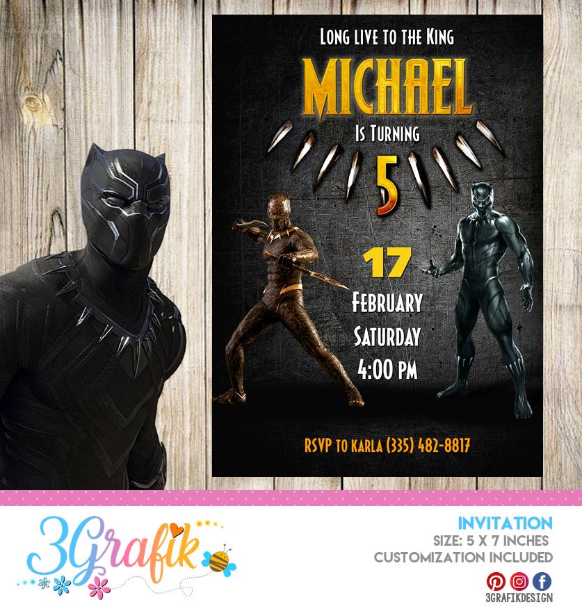 black panther avengers invitation