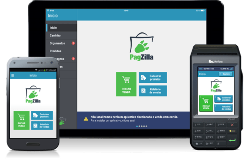 PagZilla nas versões smartphone, tablet e POS