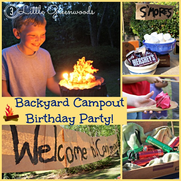 Backyard Campout Birthday Party! by 3 Little Greenwoods