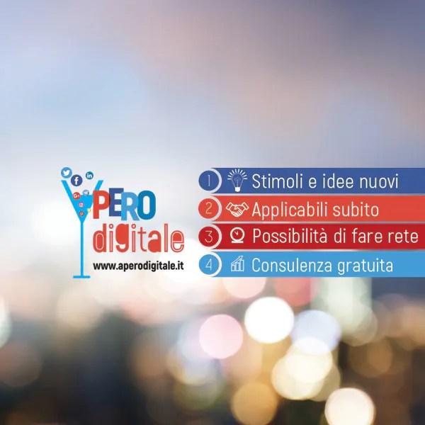 Comunicazione visiva per eventi - Aperodigitale di Inter@com