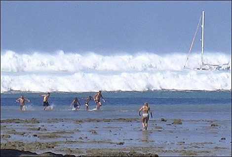 Tsunami Warning by Mobile Phone
