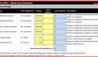 3PL Quick Cost Estimator