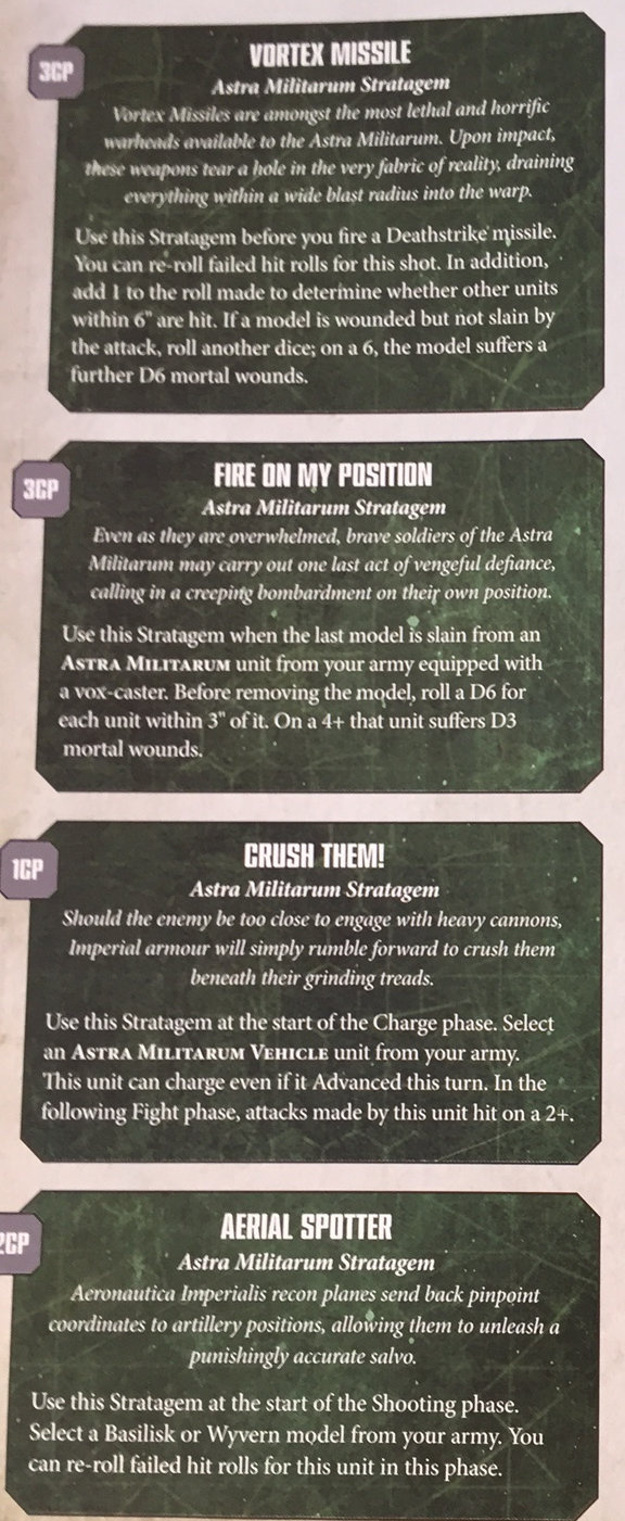 The 25 Astra Militarum Strategems Reviewed 3