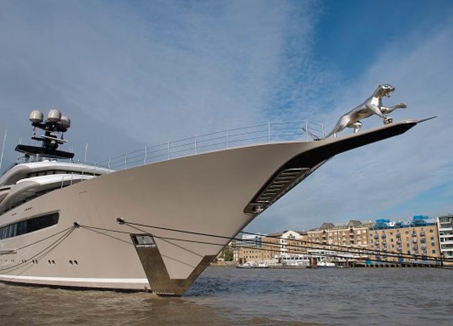 Huge 3D Printed Jaguar Hits The Sea On Billionaires Yacht