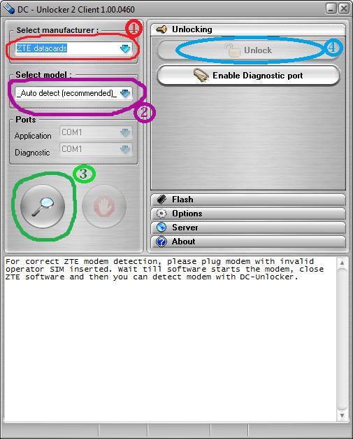 unlock stubborn zte modem free