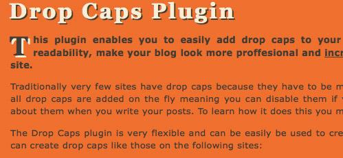 Drop Caps wp plugin preview