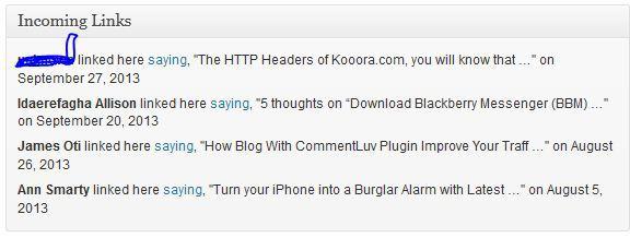 how to enable incoming links notification dashboard  widget in wordpress