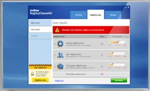 Uniblue registry cleaner kit