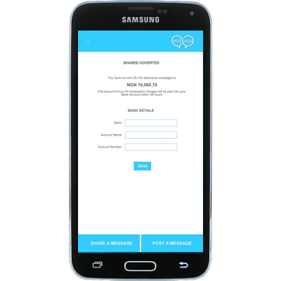 Convert Messages to Cash in Mijana App