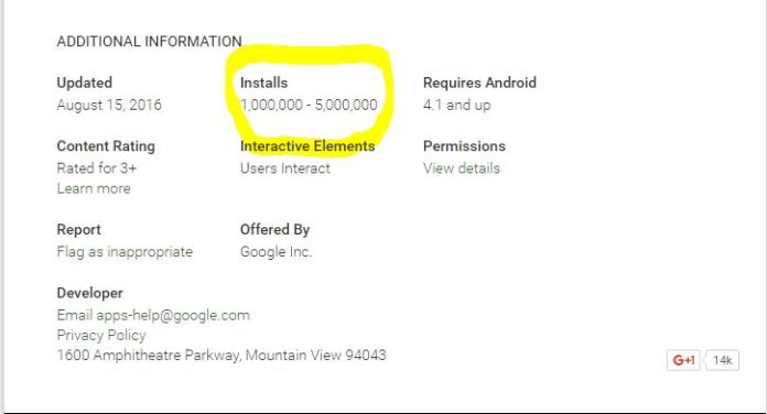 Google Duo 1M Downloads