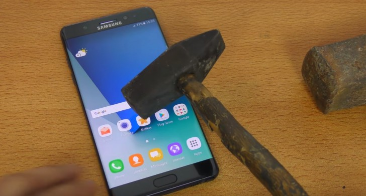 Samsung Note7 Hammer Test