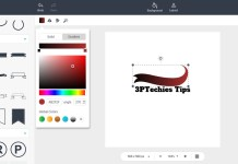 color your logo designed with DesignEvo app