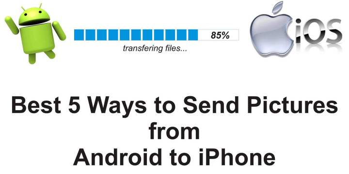 how to send pictures from android to iphone using simple methods