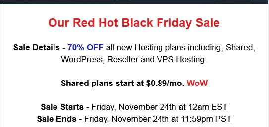 fast web host black Friday 2017 hosting deal