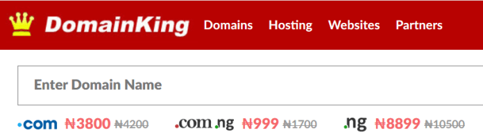 domainking Nigeria hosting company that lets you pay in Naira