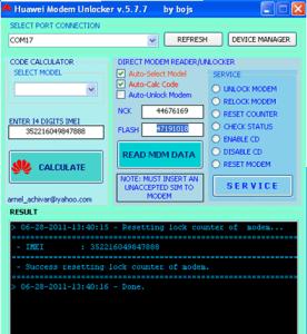 Universal huawei modem unlocker
