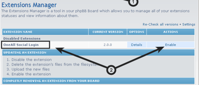 enable social login on phpBB