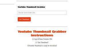 Videos Thumbnail grabber