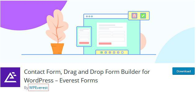 Everest Forms WP contact form builder plugin