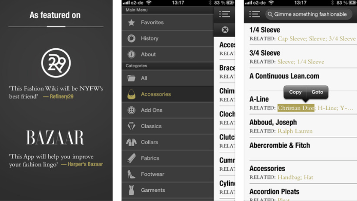 FAD - the ultimate Fashion Dictionary app
