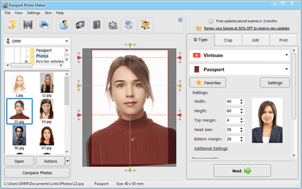 Passport Photo Maker software tutorial