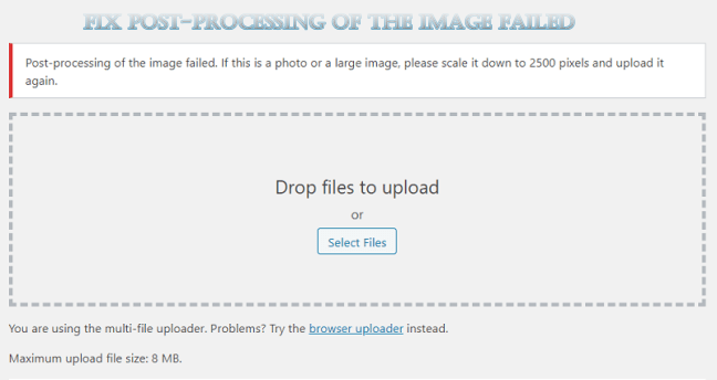 fix Post-processing of the image failed error