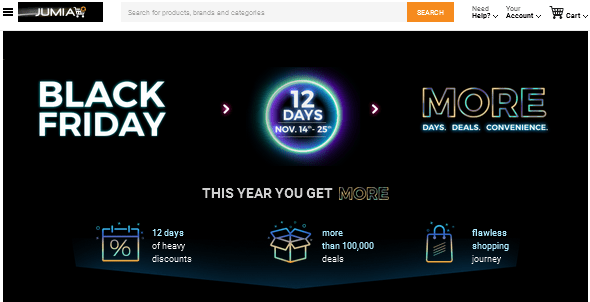 Jumia Black Friday deals 2016 in Nigeria Emalls