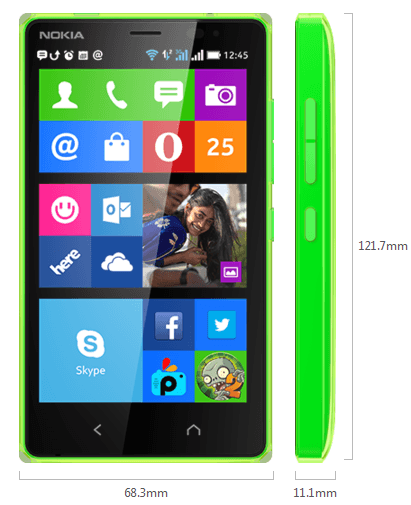 Nokia X2 Dual-SIM android phone features