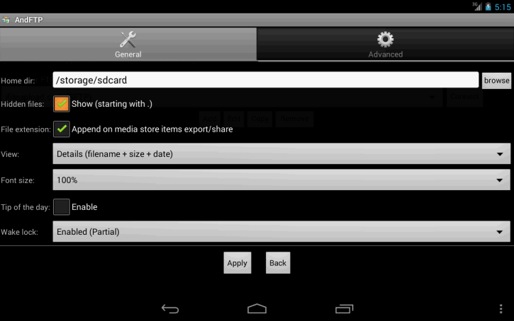 Android FTP client