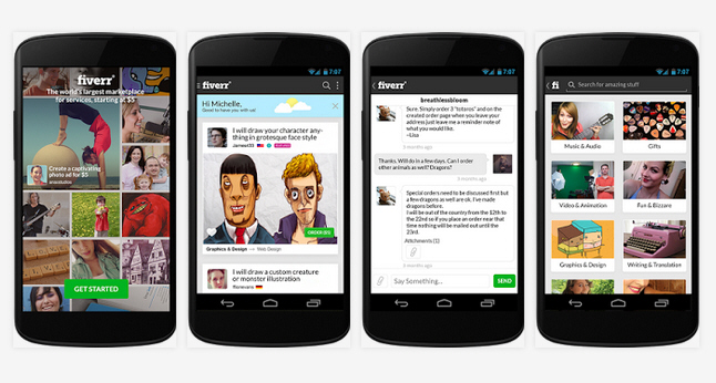 fiverr android app