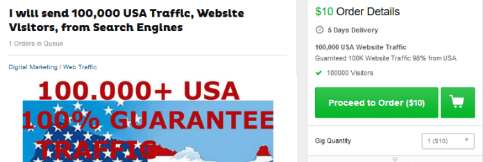 fiverr traffic is bad for your business