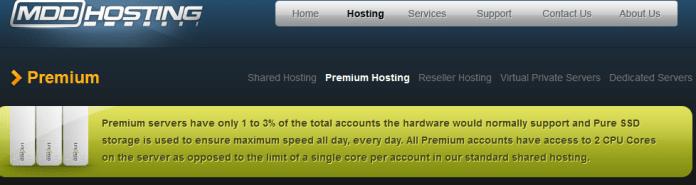 mdd hosting premium server review