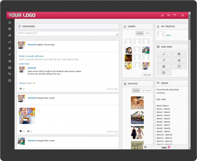 roxbook theme for oxwall