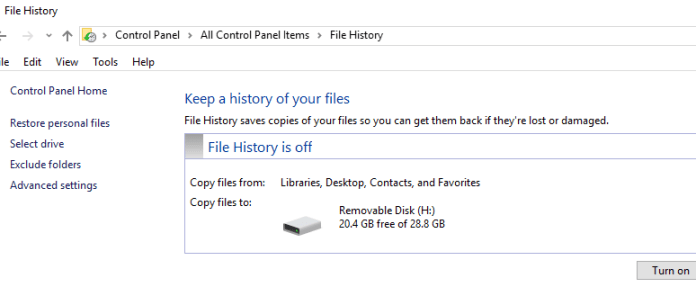 How to Recover Deleted Files with file history