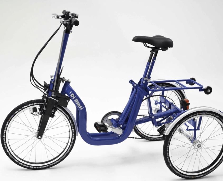 Di Blasi Klappdreirad Faltrad Campingrad E-Bike R32 Blau