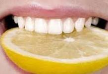 تبييض الأسنان بالليمون