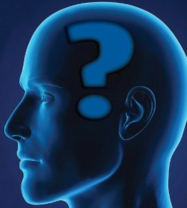 Man with question mark in his brain