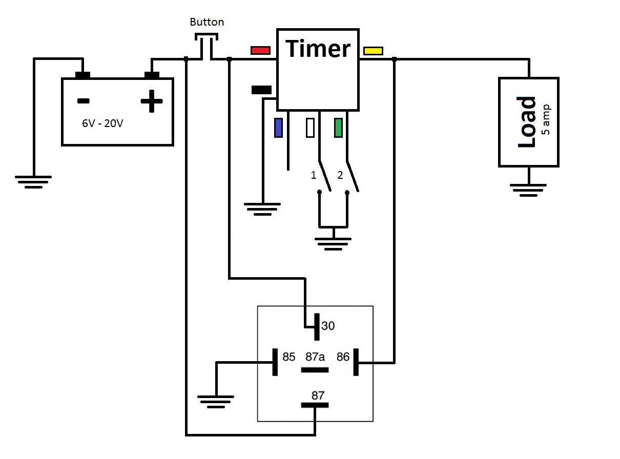 Diagrams Wiring 12 Volt Relay Circuit Diagram