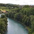Swimming in the Aare River in Bern
