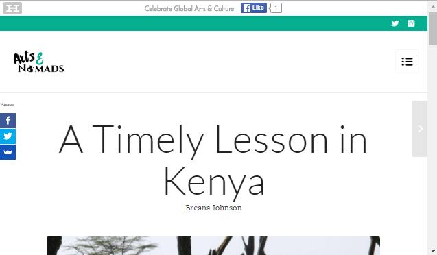 Kenya article screenshot