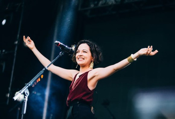 Natalie Lafourcade performs at the Latin Grammy Awards. Photo by courtesy of www.lafourcade.com.mx