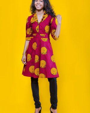 The Tura Top 3reec's Chic Creations and Collections Red Yellow Ankara Dashiki Kente African Print Ankarastyles Ethnic Tribal Midi Dress