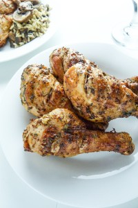 grilled chicken legs with provencal marinade