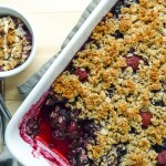 Simple Berry Crumble with Oats & Ground Almonds