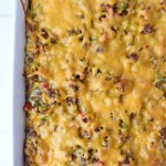 Sausage, Egg, and Cheese Strata with Peppers and Onions