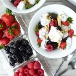Chia Pudding Triple Berry Banana Splits with Homemade Whipped Cream