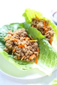 asian lettuce wraps with ground turkey