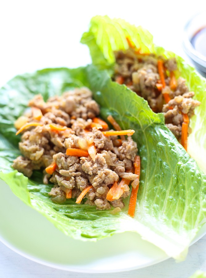 asian lettuce wraps with ground turkey