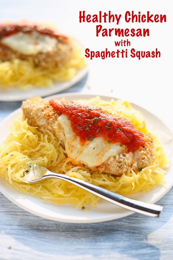healthy chicken parmesan with spaghetti squash