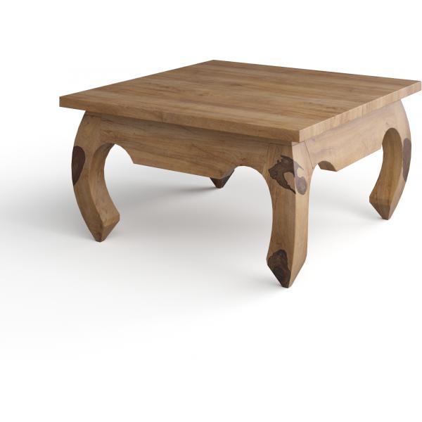 table basse carree en bois naturel kabaena